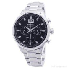 Relojes - Seiko: RELOJ SEIKO NEO CLASSIC CHRONOGRAPH SPC083P1 CUARZO NEGRO. Lote 288861128