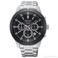 Relojes - Seiko: RELOJ SEIKO NEO SPORT SKS611P1 CUARZO, CROMO, NEGRO. Lote 288859903