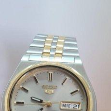 Relojes - Seiko: RELOJ (VINTAGE) SEIKO AUTOMÁTICO ACERO BICOLOR, ESFERA GRIS, DOBLE CALENDARIO TRES, CORREA ORIGINAL. Lote 291531948