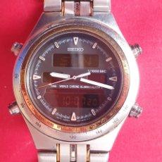 Relógios - Seiko: RELOJ SEIKO TIME WORLD CHRONO ALARMA CUARZO FUNCIONA. MIDE 40 MM DIAMETRO. Lote 293563878