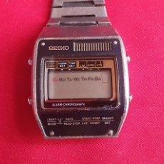 Relojes - Seiko: RELOJ SEIKO ALARMA CHRONOGRAF NO FUNCIONA. MIDE 33.6 MM. Lote 295636048