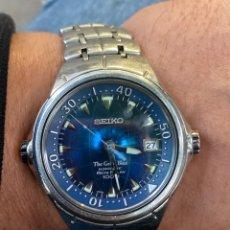 Relojes - Seiko: RARO SEIKO THE GREAT BLUE PERPETUAL CALENDAR GMT, ZAFIRO, BANDA ORGÁNICA . ENERGÍA ELÉCTRICA.. Lote 295714988