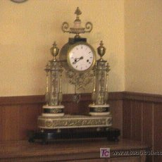 Relojes de carga manual: RELOJ IMPERIO.MODELO PARIS S XIX. DE BRONCE,MARMOL CLARO YMARMOL NEGRO.FUNCIONANDO MAQUINARIA ORIGIN. Lote 5023313