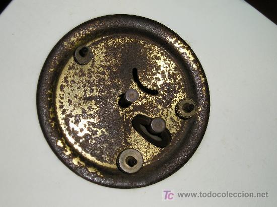 Relojes de carga manual: ANTIGUO RELOJ DE SOBREMESA DE CARGA MANUAL EN MAYOLICA CON FIGURA DE MUSICO - Foto 8 - 27482624