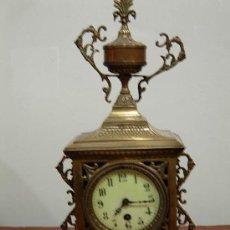 Relojes de carga manual: LIQUIDACION RELOJ DE BRONCE DE SOBREMESA. Lote 27250048