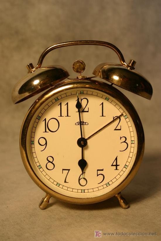 Antiguo reloj despertador prim funciona muy comprar - Relojes de sobremesa antiguos ...