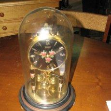 Relojes de carga manual: RELOJ CUPULA DE CRISTAL. 31X18 CM DIAMETRO. Lote 107645990