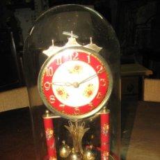 Relojes de carga manual: RELOJ CUPULA DE CRISTAL. 31X18 CM DIAMETRO. Lote 27280284