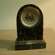 Relojes de carga manual: RELOJ ART DECO EN MARMOL VERDE . Lote 27392467