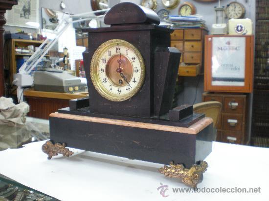 RELOJ MARMOL FRANCES SIGLO XIX. MOVIMIENTO SOLO. (Relojes - Sobremesa Carga Manual)