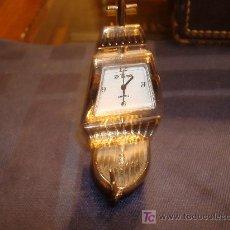Relojes de carga manual: PEQUEÑO RELOJ PLATEADO CON FORMA DE CARABELA. Lote 20153451