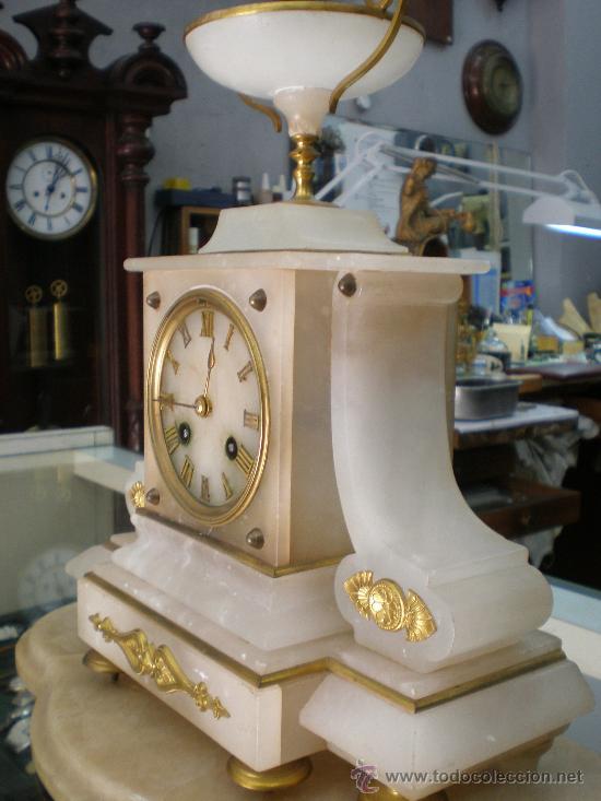 Relojes de carga manual: BELLO Y ELEGANTE RELOJ FRANCES SIGLO XIX. - Foto 5 - 27096748