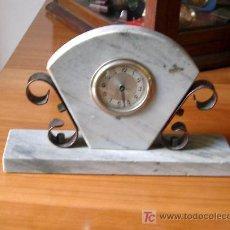 Relojes de carga manual: LIQUIDACION ANTIGUO RELOJ DE SOBREMESA ART DECO DE MARMOL *. Lote 27460233