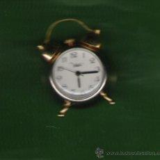 Relojes de carga manual: PRECIOSO RELOJ DESPERTADOR DE COLECCION DE PILAS MARCA MAX DE 3,5 CM.DE DIAMETRO. Lote 25672145