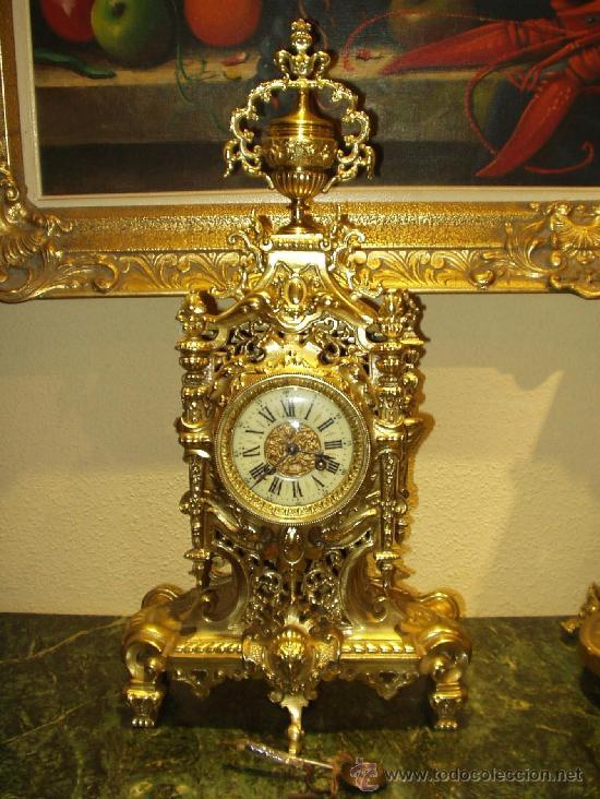 Bello y antiguo reloj de sobremesa frances esti comprar - Relojes de sobremesa antiguos ...