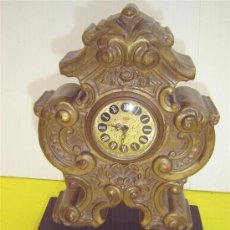 Relojes de carga manual: RELOJ DE SOBREMESA EN BRONCE. Lote 14905150