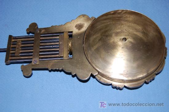 Relojes de carga manual: RELOJ ESTILO IMPERIO DE PALMA DE CAOBA Y CAOBA CON APLIQUES DE BRONCE Y ORO FINO - Foto 17 - 27019221