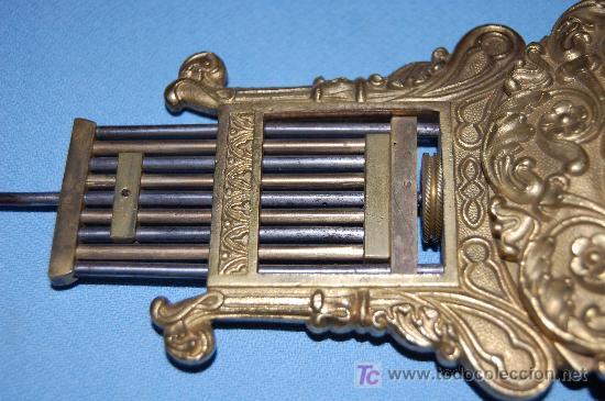 Relojes de carga manual: RELOJ ESTILO IMPERIO DE PALMA DE CAOBA Y CAOBA CON APLIQUES DE BRONCE Y ORO FINO - Foto 16 - 27019221