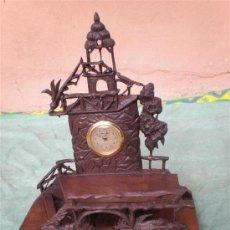 Relojes de carga manual: RELOJ DE MADERA EN FORMA DE PAISAJE. Lote 16434196