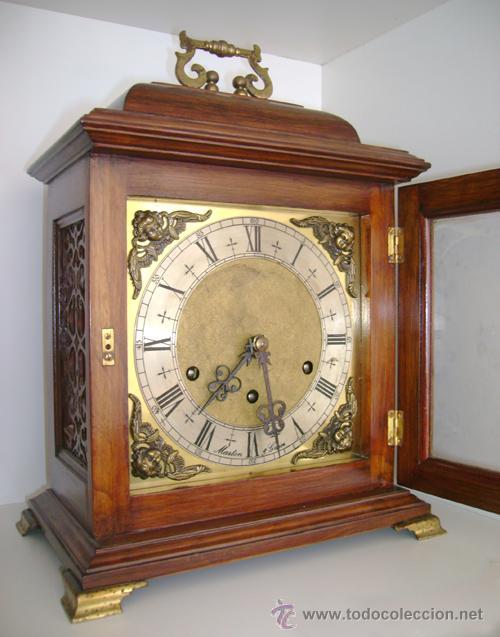 Antiguo estupendo reloj espa ol de sobremesa me comprar - Relojes antiguos de mesa ...
