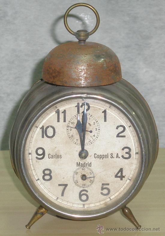 ANTIGUO RELOJ DEL ABUELO - DESPERTADOR - ORIGINAL. (Relojes - Sobremesa Carga Manual)