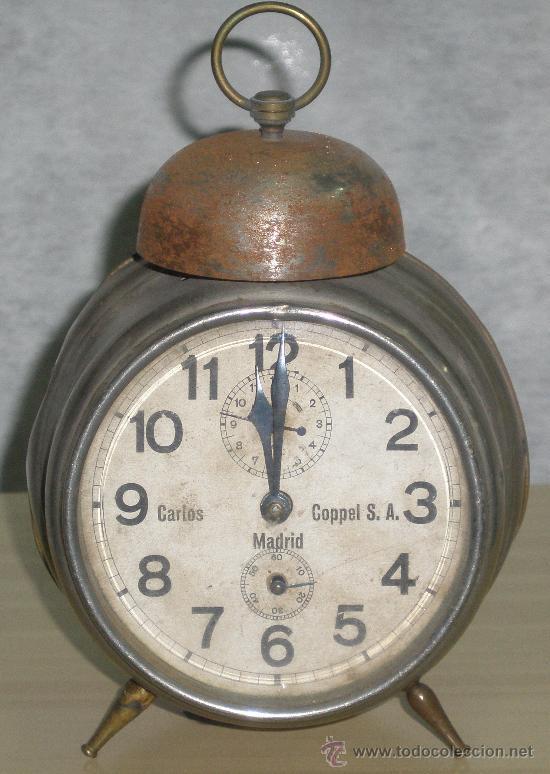 Relojes de carga manual: ANTIGUO RELOJ DEL ABUELO - DESPERTADOR - ORIGINAL. - Foto 2 - 43736135