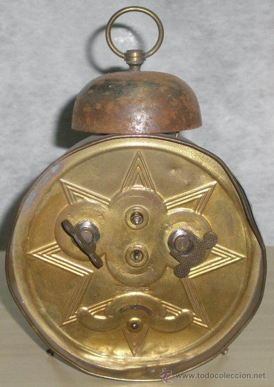 Relojes de carga manual: ANTIGUO RELOJ DEL ABUELO - DESPERTADOR - ORIGINAL. - Foto 3 - 43736135