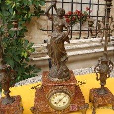 Relojes de carga manual: RELOJ CON CANDELABROS,. Lote 27518266