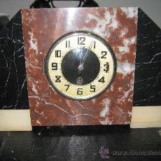 Relojes de carga manual: RELOJ DE MESA EN MARMOL VARIOS COLORES. ART DECO. . Lote 27406604
