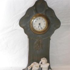 Relojes de carga manual: RELOJ DE SOBREMESA DE PORCELANA ARTE-NOVA. Lote 18469871