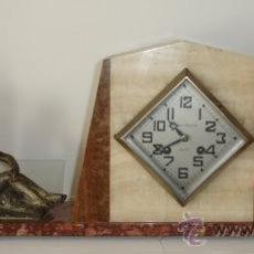 Relojes de carga manual: PRECIOSO ANTIGUO RELOJ DE MARMOL - ART DECO - FUNCIONA. Lote 27562183
