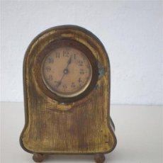 Relojes de carga manual: RELOJ DE SOBREMESA DE METAL. Lote 20627396