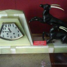 Relojes de carga manual: RELOJ ART DECO MARMOL Y BRONCE. Lote 31599723