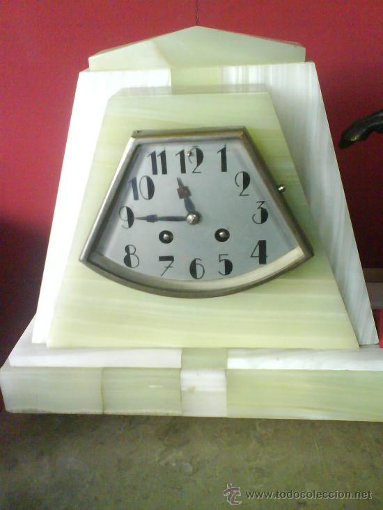 Relojes de carga manual: RELOJ ART DECO MARMOL Y BRONCE - Foto 2 - 31599723
