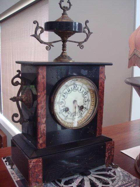 RELOJ FRANCES DE MARMOL -S XIX- (Relojes - Sobremesa Carga Manual)