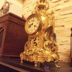 Relojes de carga manual: RELOJ BRONCE MAQUINARIA PARIS. Lote 26779085