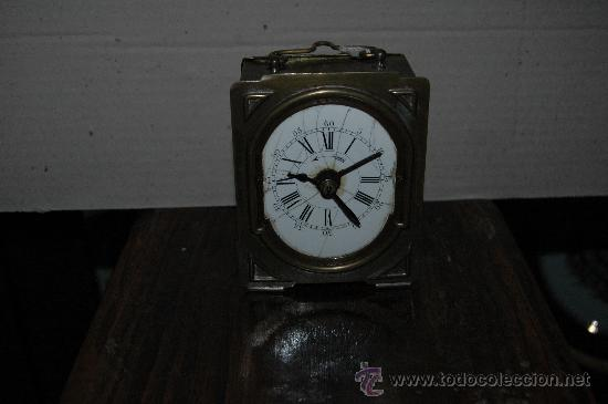 ANTIGUO RELOJ SOBREMESA FUNCIONANDO (Relojes - Sobremesa Carga Manual)