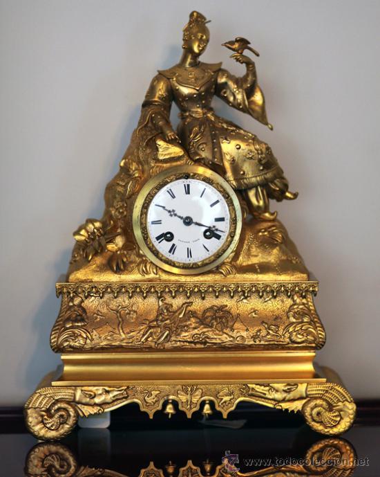 Impresioante reloj de mesa louis philippe bronc comprar - Relojes antiguos de mesa ...