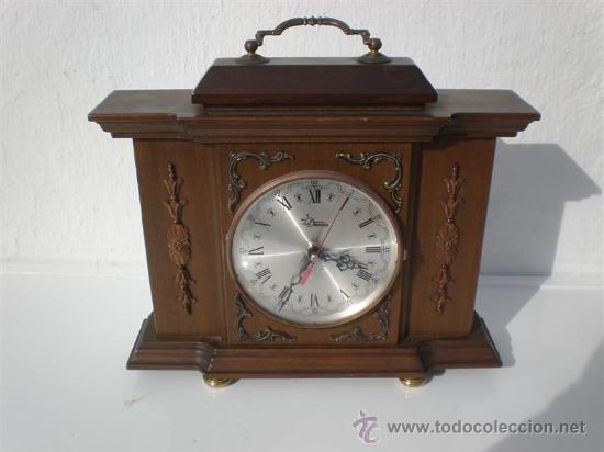 RELOJ DE SOBREMESA MADERA (Relojes - Sobremesa Carga Manual)