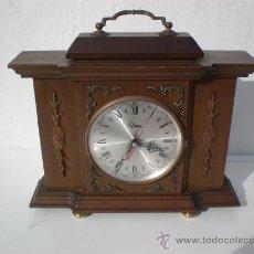 Relojes de carga manual: RELOJ DE SOBREMESA MADERA . Lote 23340012