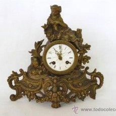 Relojes de carga manual: RELOJ DE BRONCE FRANCES CON FIGURAS. Lote 26260179