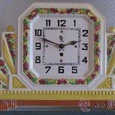 Relojes de carga manual: MAGNIFICO RELOJ MODERNISTA, CON PAREJA GUARNICIÓN CERÁMICA - PERFECTO FUNCIONAMIENTO.. Lote 26458510