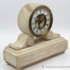 Relojes de carga manual: RELOJ DE SOBREMESA EN MÁRMOL. 23 CM. ALTO X 28 CM ANCHO.. Lote 26971286