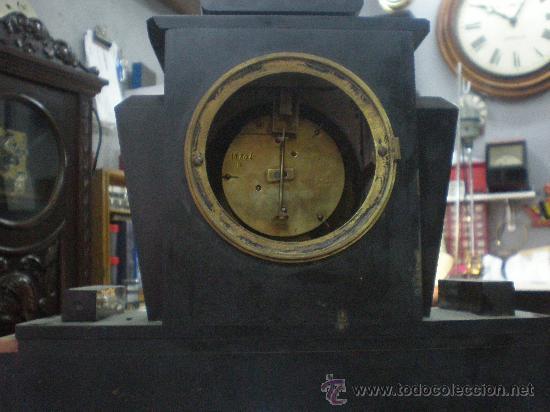 Relojes de carga manual: RELOJ MARMOL FRANCES SIGLO XIX. MOVIMIENTO SOLO. - Foto 3 - 27096753