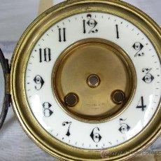 Relojes de carga manual: ESFERA DIAL PORCELANA AÑO1900 APROX. CON CIERRE DE CRISTAL PARA MÁQUINA PARIS. Lote 34196895