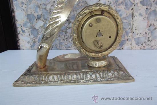 Relojes de carga manual: reloj de sobremesa de bronce con figura - Foto 3 - 28999076