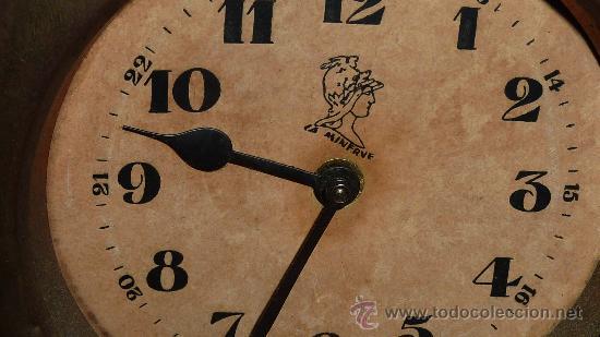 Relojes de carga manual: Precioso reloj de sobremesa en porcelana francesa pintada. de 1920s. Marca Minerve. - Foto 5 - 29706498
