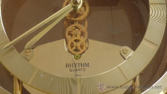 Relojes de carga manual: Reloj de sobremesa marca Rhythm quartz de Japon, años 60s. - Foto 3 - 29707047
