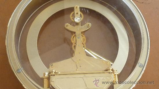 Relojes de carga manual: Reloj de sobremesa marca Rhythm quartz de Japon, años 60s. - Foto 7 - 29707047