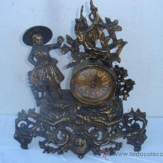 Relojes de carga manual: RELOJ DE BRONCE DE PILAS. Lote 30384510